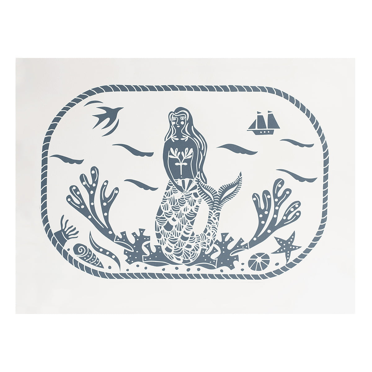 'Mermaid' print